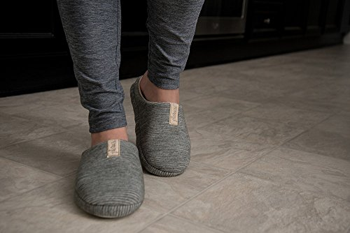 Aerusi Trento Unisex Ultra Soft Microfiber House Slippers Gray / Beige BVoAMosII
