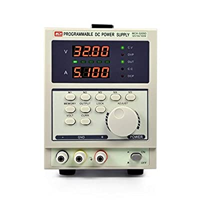 XIAOF-FEN High Precision MCH3205D Programmable DC Stabilized Current Supply Four-Digit Display Linear DC Power Supply Home Improvement Electrical