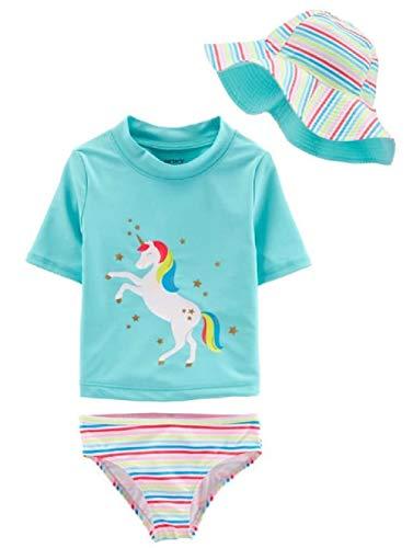 Carter's Little Girls' Two Piece Swimsuit (Multi Blue, 6/6x)