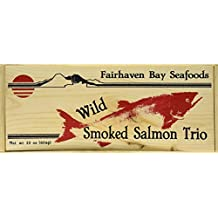 Fairhaven Bay Seafoods Smoked Salmon Trio, 22 Oz in Wood Legacy Gift Box