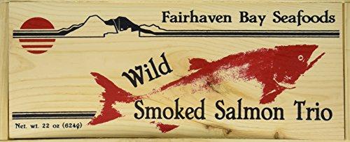 Smoked Salmon Trio, 22 Oz in Wood Legacy Gift Box - Smoked Pacific Salmon
