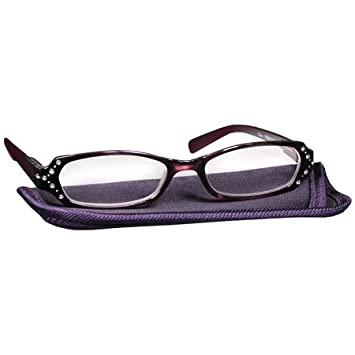 1fb4fc2d527c Image Unavailable. Image not available for. Color: Foster Grant Women's  Fashion Reading Glasses +1.50 Zaddie Purple ...