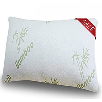 bamboo pillow with shredded memory foam for back stomach and side sleepers dream queen