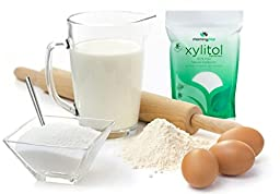 Morning Pep 5 LB 100% Pure Birch Xylitol sweetener (Not From Corn) NON GMO - KOSHER - GLUTEN FREE - PRODUCT OF USA. 5 LB