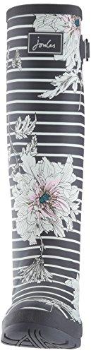 Print Grey Floral Agua de Welly Peony Joule Grau Tom Botas Mujer AWxEqRv1