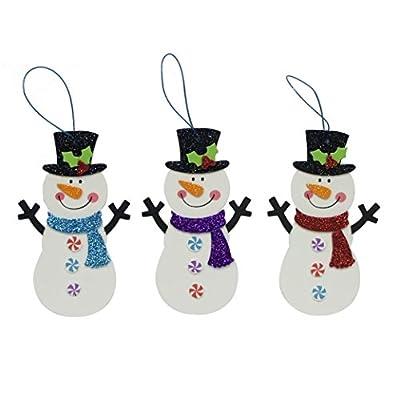 Snowman Christmas Craft Fun Foam Kit - Holiday Makes 15 Ornaments