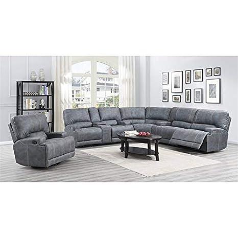 Amazon.com: Emerald Home Medford Grafito reclinable sección ...