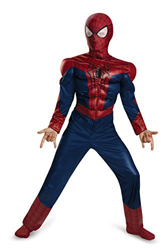 Kids Man Spider Costumes Amazing (Amazing Spider-Man 2 Classic Muscle Kids Costume/size Large)