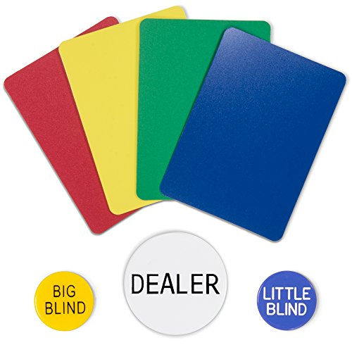 Poker Size Dealer Kit: Includes cut cards, dealer button, big and little blind buttons by Brybelly