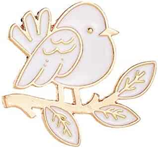 1c12f9430 Yamalans Lovely Bird Leaves Pattern Enamel Brooch Pin Jeans Coat Scarf  Clothes Badge Jewelry Xmas Gift