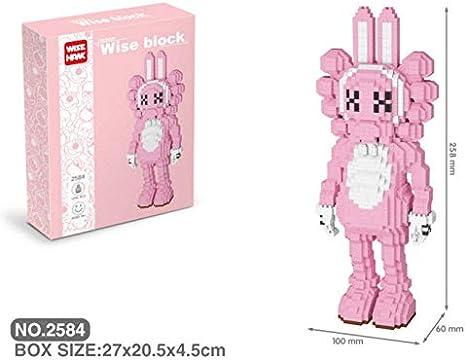 Zenghh 3D Pixel Bloques Bloques de construcción de juguete precioso Calle Sésamo Scblock grande marrón rosado anatomía Nano Micro Bloques del diamante bricolaje Juguetes ensamblamiento de la muñeca fo