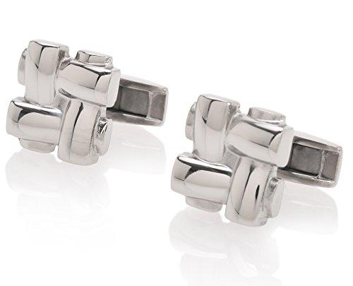 Lorenzo Titanium Luxury Polished Cufflinks product image