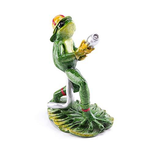 (Firefighter Frog Fireman Glazed Figurine Resin Craft Sculpture Home and Office Decor)
