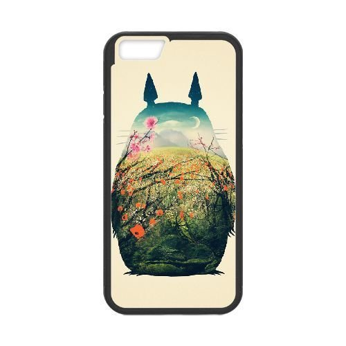 Durable Rubber Cases iPhone 6 4.7 Inch Black Cell phone Case Kiokz My Neighbour Totoro Protection Cover
