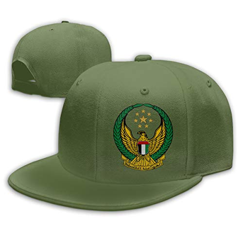 United Arab Emirates Armed Forces Baseball Cap Dad Hat Unisex Classic Sports Hat Peaked Cap Moss Green ()