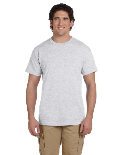 (Fruit of the Loom 5 Oz, 100% Heavy Cotton HD T-Shirt, Small, Ash)