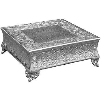 Amazon Com 14 Inch Silver Square Wedding Cake Stand