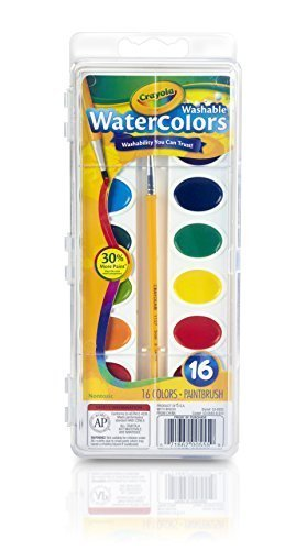 Crayola Washable Watercolor Paint, 16 Colors (Pack of 3) by Crayola