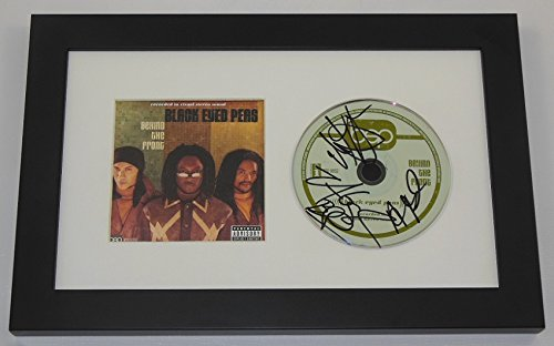 The Black Eyed Peas Behind The Front Group Authentic Hand Signed Autographed Music Cd Cover Framed Display Loa (Black Ray Blu Eyed Peas)