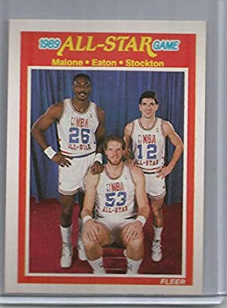 timeless design 91034 a6bfe Amazon.com: 1989-90 Fleer #163 Karl Malone/Mark Eaton/John ...
