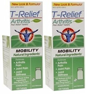 T-Relief Arthritis Tablets, 100 Tablets (2 Bottle Pack)
