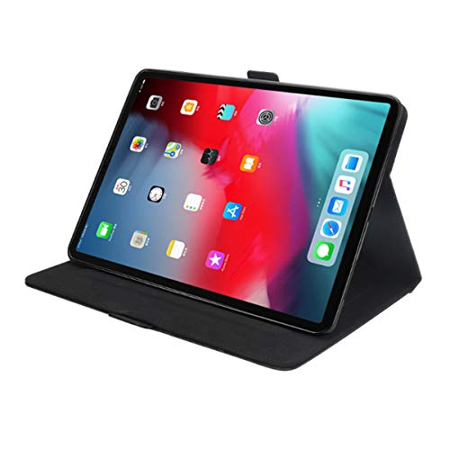 KATEGY iPad Pro 11 Inch Case with Pencil Holder, Premium PU Leather Folio Case with Apple Pencil Strap Holder and Card Slots Magnetic Smart Case Cover for iPad Pro 11 inch 2018 Release - Black by KATEGY (Image #5)