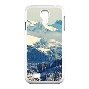 Scenic Winter Mountains Landscape Samsung Galaxy S4 Case for Boys, Samsung Galaxy S4 Case [White] by supermalls