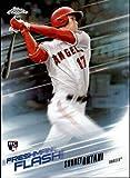 #9: 2018 Topps Chrome Baseball Freshman Flash Refractor #FF-1 Shohei Ohtani Los Angeles Angels RC Rookie Card