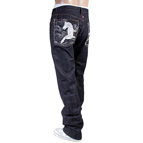 RMC jeans brodée pour Argent Cheval Porte Bonheur Japonais ralingue RMC3751 jeans