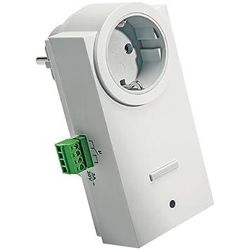 ELV Homematic Komplettbausatz Funk-Schaltaktor mit Klemmanschluss, Zwischenstecker HM-LC-Sw1-Pl-CT, für Smart Home/Hausautoma