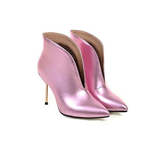 on Boots Stiletto Pull Pink Imitated Ladies BalaMasa Mule Leather IpqAwp