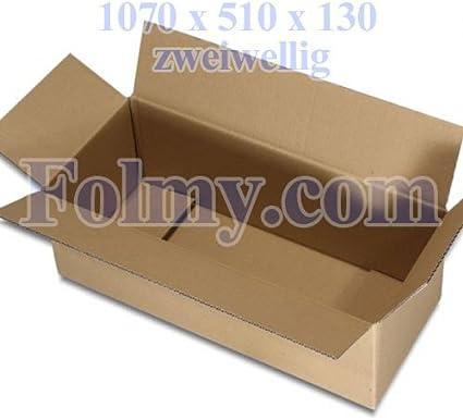 10 caja de cartón plegable.1070 x 510 x 130 mm, 2 ondulaciones ...