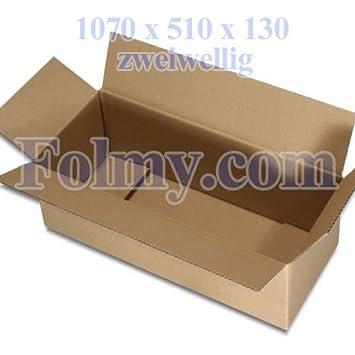 10 caja de cartón plegable.1070 x 510 x 130 mm, 2 ondulaciones.Cajas de Cartón.Cajas.Mudanza Cartón.Mudanza Cajas.: Amazon.es: Oficina y papelería