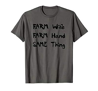 Funny Farm Wife T-Shirt Farmer Women Shirt Gift
