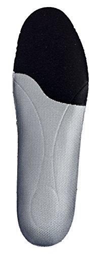 Plantilla biomecánica personalizable que previene lesiones articulares. Adaptación total a la ergonomía del pie. Negro
