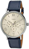 Timex Unisex TW2R29200 Southview 41 Multifunction Blue/White Leather Strap Watch