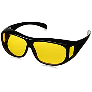 HD Night Vision Wraparounds Wrap Around Glasses (without bag)