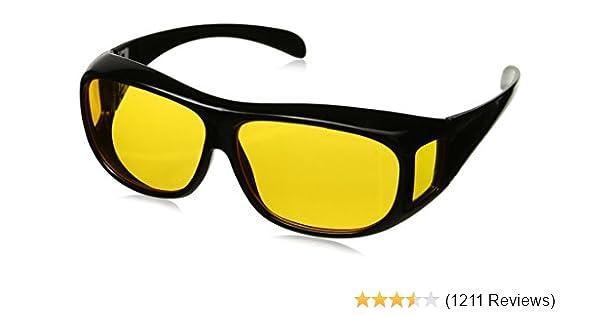 36b5e56c4e9 Amazon.com  HD Night Vision Wraparounds Wrap Around Glasses  Sports    Outdoors