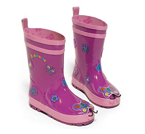 Kidorable Butterfly Boots (Kidorable Girls' Butterfly Rain Boots 11 Little Kids)