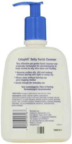 41v0Lm-4WzL Cetaphil Daily Facial Cleanser, For Normal to Oily Skin, 16 Ounce (Pack of 2)