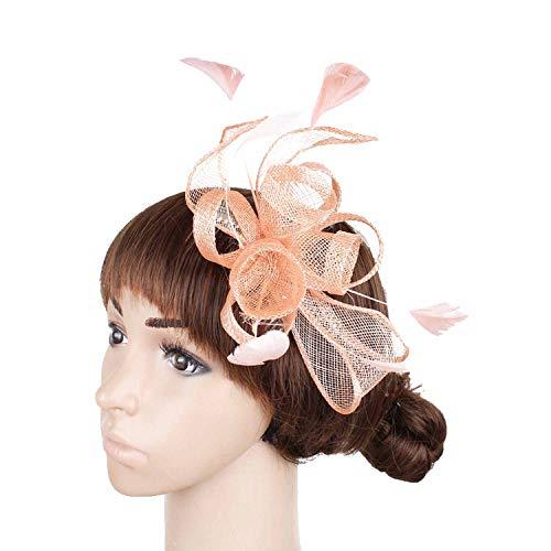 (Surprisedresshatglasses-Halloween hat Colors Select Elegant Gold Hair Fascinator Hats Hair Comb Feather Wedding Hair)