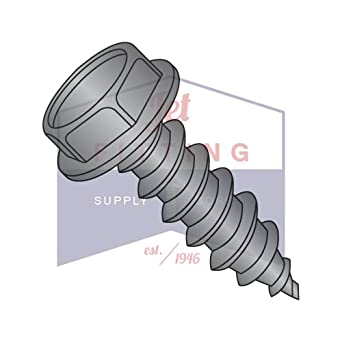 14 x 3//4 Hex Head 18-8 Stainless Steel Self Tapping Machine Screws