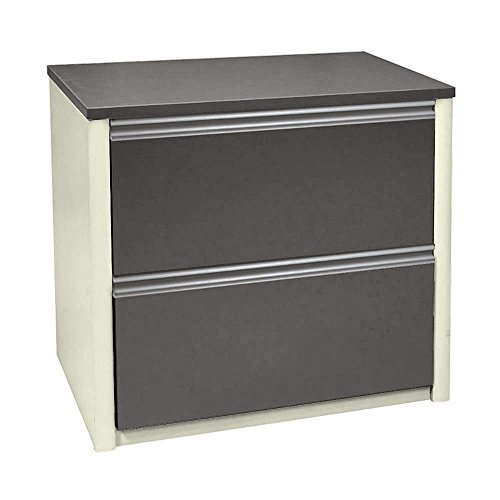 Two Drawer Lateral File Slate/Sandstone Dimensions: 30.75