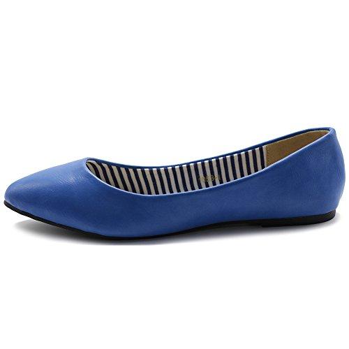 Scarpa Da Balletto Donna Ollio Comfort Basic Light Multi Color Flat Blue