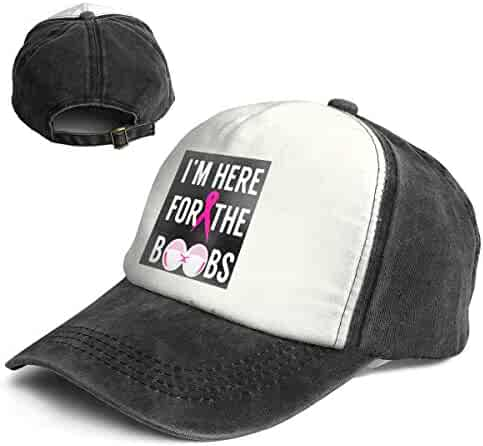88cdef5785853 Vintage General-Purpose I m Here for The Boobs Multicolor Adjustable  Baseball Cap Dad