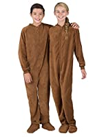 Footed Pajamas - Teddy Bear Kids Chenille