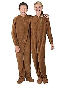 Footed Pajamas - Teddy Bear Kids Chenille