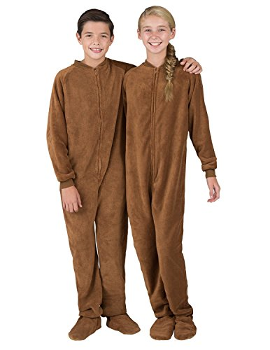 Footed Pajamas – Teddy Bear Kids Chenille – Large