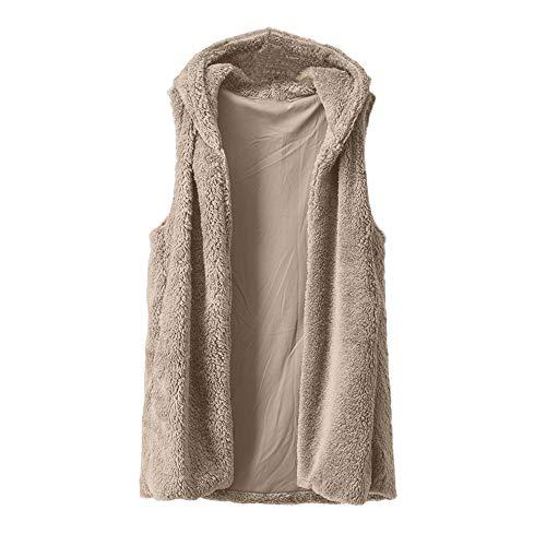Outwear GreatestPAK Faux Poche Manches Fourrure Lady Manteau Gilet De Taille Hiver Gilet Solide sans Femmes Plus txxOfS0q