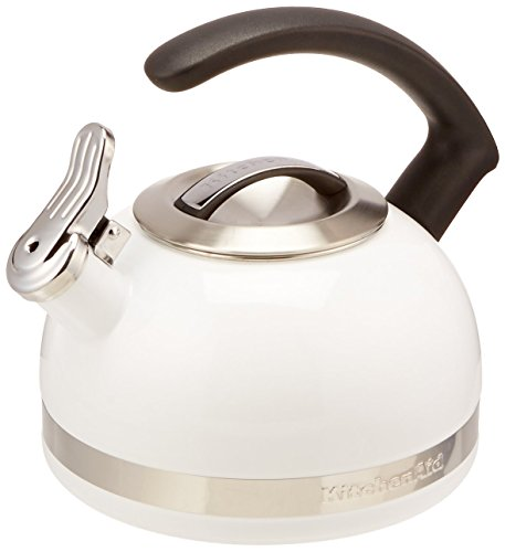 KitchenAid KTEN20CBWH 2.0-Quart Kettle with C Handle and Trim Band - White ()
